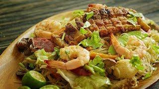 Pancit Bihon-Canton | Filipino Stir-Fried Rice Noodles 🎧