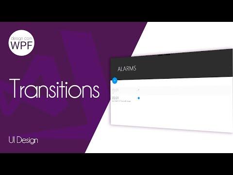 C# WPF Design UI - Transitions