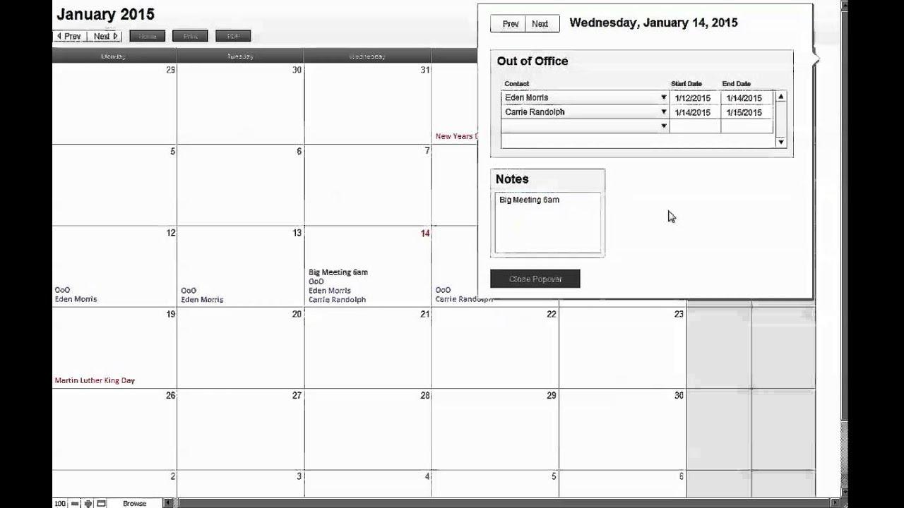 Calendar' in Learning FileMaker | Scoop it