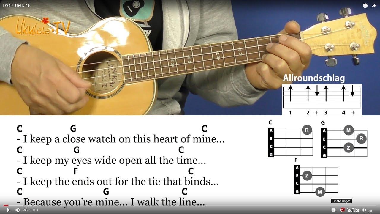 Six Ways To Play I Walk The Line Johnny Cash Chords Lyrics