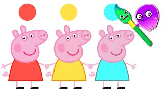 Learn Magic Colors and Numbers with Peppa Pig! Groovy The Martian educational cartoons for children