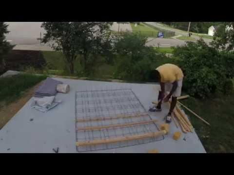 Taking apart a mattress and box spring for recycling purposes