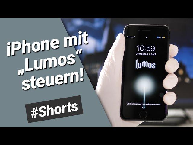 Lumos - iPhone mit Harry Potter Zaubersprüche steuern #Shorts