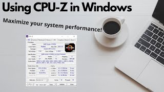 Using CPU-Z in Windows screenshot 1