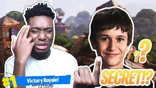 MY DUOS PARTNER IS NINJA'S *HIDDEN* SON... MOST RANDOM DUOS VICTORY IN FORTNITE HISTORY!