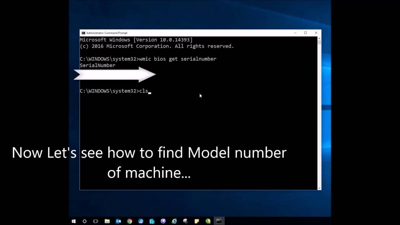 How to find your computer 39 s serial number in windows 10 7 for Window number