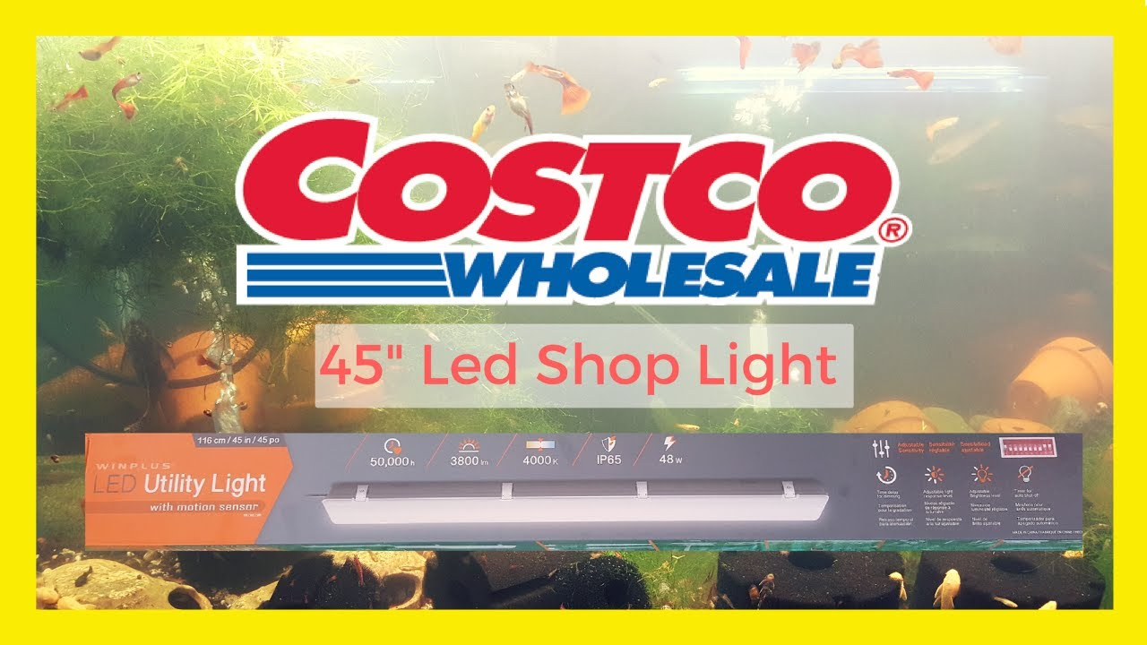 costco led shop light review aquariumcoop unboxing youtube. Black Bedroom Furniture Sets. Home Design Ideas