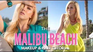 5 Looks in One Day Beautiful Makeup & Hair Malibu Beach Photoshoot BTS | mathias4makeup