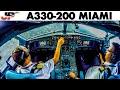 Piloting AIRBUS A330 into Miami | Cockpit Views