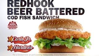 Carbs - Carl's Jr Redhook Beer-battered Cod Fish Sandwich