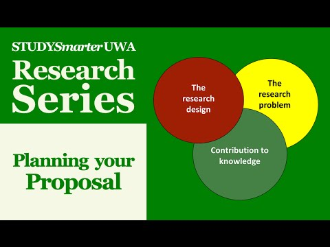 Planning Your Research Proposal for UWA Honours and Masters Students