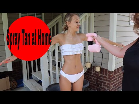 Spray Tan/Tips And Tricks For At Home Tanning|Mine Tan Spray Kit