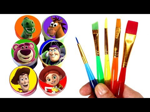 Toy Story Painting & Drawing with Sheriff Woody Jessie Buzz Lightyear Lotso Toy Story Surprise Toys
