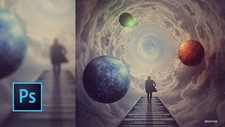 Cloud Planets Photo Manipulation Composite Photoshop Tutorial