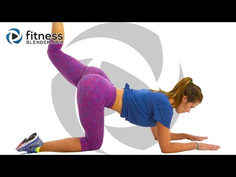At Home Butt and Thigh Workout - Strength, Pilates and Barre Workout (Bored Easily)