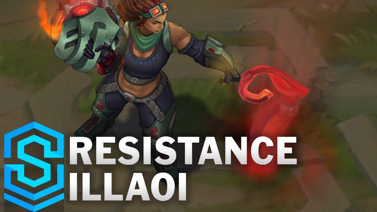 resistance illaoi skin spotlight pre release league of legends