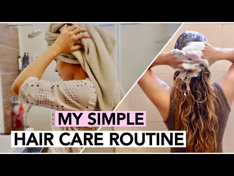 MY SIMPLE HAIRCARE ROUTINE 2019 + TIPS FOR HEALTHY COLOURED HAIR | PEEKAPOOXO thumbnail
