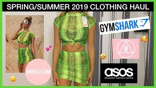 SPRING/SUMMER TRY ON CLOTHING HAUL 2019 - ASOS, OH POLLY, MISSGUIDED, ISAWITFIRST & MORE!