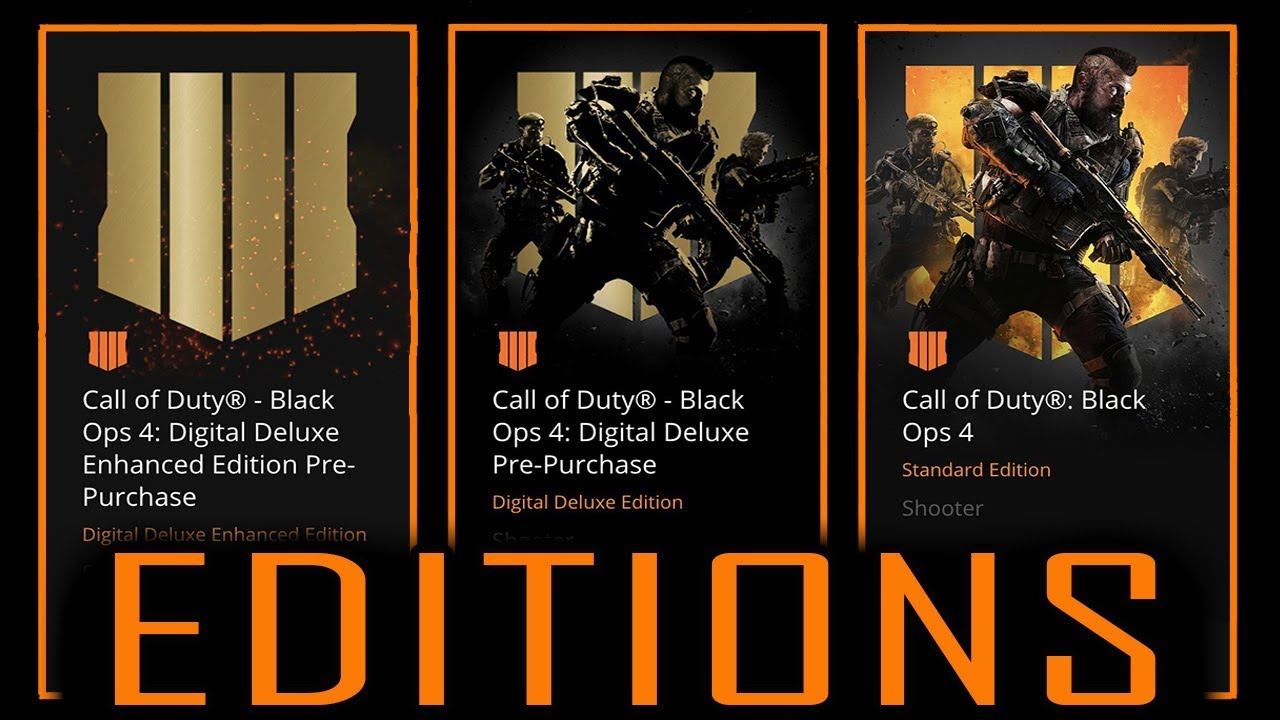 ALL BO4 SPECIAL EDITIONS & PRICING$$ (FIVE ZOMBIES REMAKE HINTED BY TREYARCH)