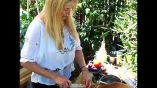 Mimi Kirk Makes A Salad Out In Her Garden