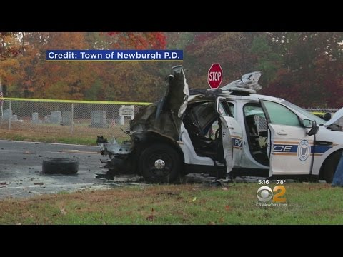 NY police cruiser explodes leaving officer injured