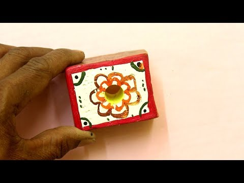 Pen Holder & Paper Wait Making Idea - Creative & Easy To Make Craft Idea | Cement Paper Wait