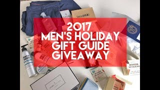 2017 Men's Holiday Gift Guide Giveaway
