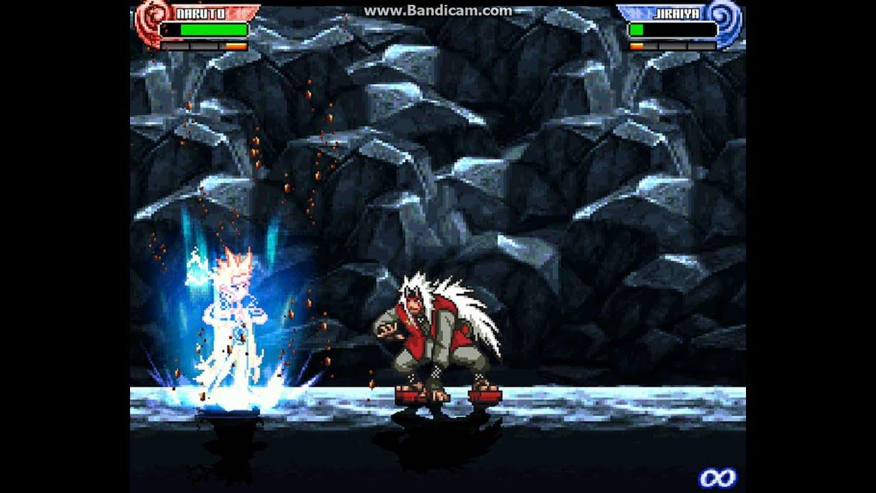 Naruto Shippuden Shinobi Rumble Generations M U G E N Naruto Bijuu Nzc Vs Jiraiya Nzc Review Youtube