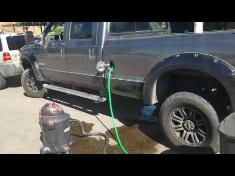 Drain f350 gas tank like a redneck