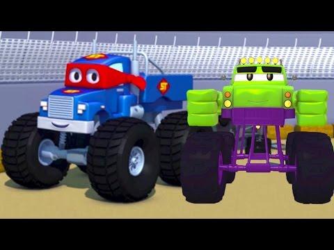 Carl el Super Camión y el Camión Monstruo en Auto City | Dibujos animados para niños
