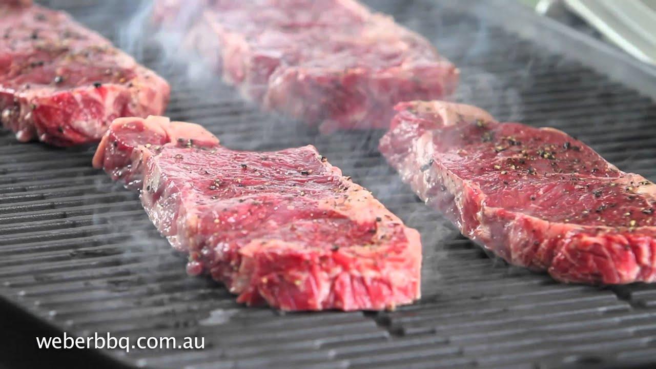 Weber Elektrogrill Steak : Grilling steaks on your weber® q™ youtube