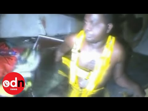 Footage of miracle sea rescue: Man survives for three days trapped in shipwreck using air bubble