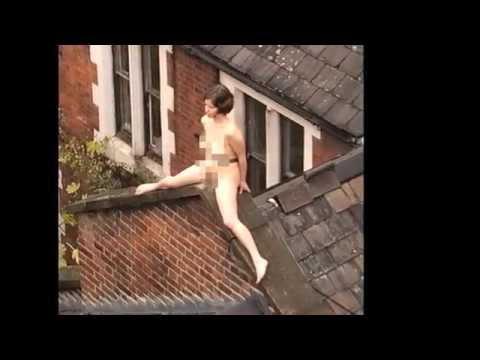 on Nude roof sunbathing