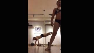 Rachel Singapore Pole Dance Academy High Intermediate Lesson 5