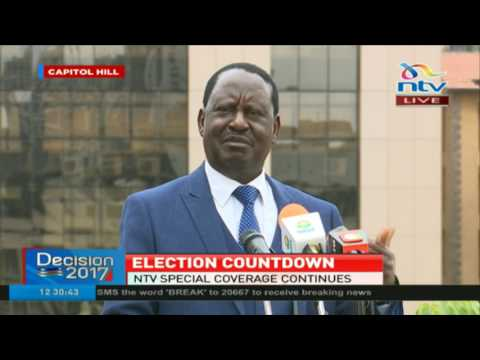 Raila Odinga raises concerns a few hours to #ElectionsKE