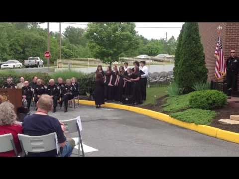 """Amazing Grace,"" performed by the Sullivan East High School Choir at the Sullivan County Sheriff's O"