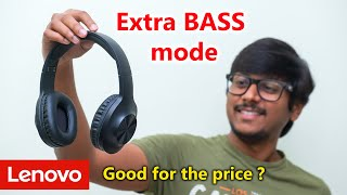 Lenovo 39 s New Headphones with Extra BASS mode Unboxing amp Review