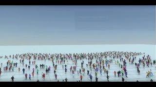 Простой пример создание толпы в Miramy in Autodesk Maya