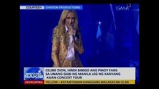Celine Dion, hindi binigo ang Pinoy fans sa unang gabi ng Manila leg ng kanyang Asian concert tour