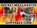 "Rocket Mass Heater Shippable Cores - 2 hours smashed into 8 minutes, from ""Better Wood Heat"""