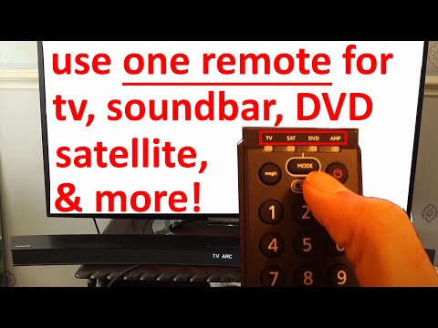 how to use one remote for tv and soundbar