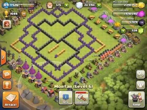 Clash of clans th9 base design walkthrough youtube