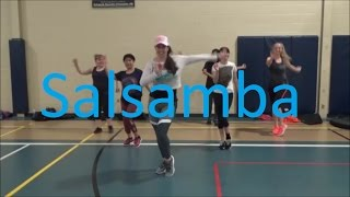 Salsamba / Junior Jein  Salsa samba dance fitness routine by Jilly Zumba