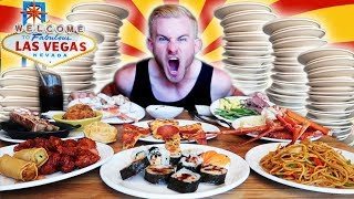 COMPETITIVE EATER VS  #1 RATED LAS VEGAS BUFFET! (18,000+ CALORIES)