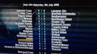 Championship Manager 2007 Xbox 360 - results of pre season and where are they now?