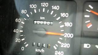Ford Sierra DOHC erreicht 300000 km auf der Autobahn