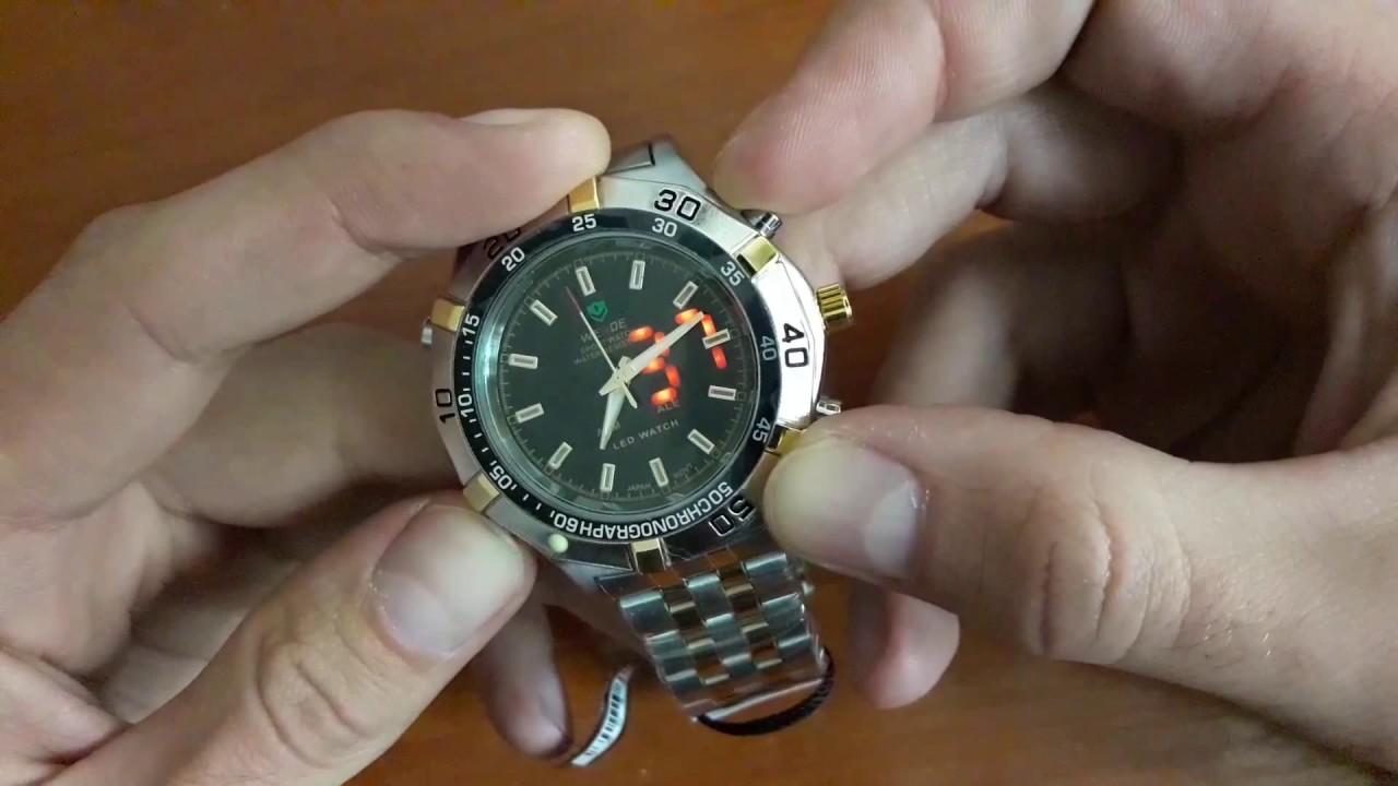 Обзор: мужские часы Weide 5205 Sport White. Большие наручные часы .