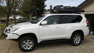 Toyota Prado 150 2014 facelift model modifications for 4x4ing, touring and camping