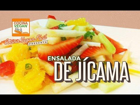 Ensalada de jícama - Cocina Vegan Fácil