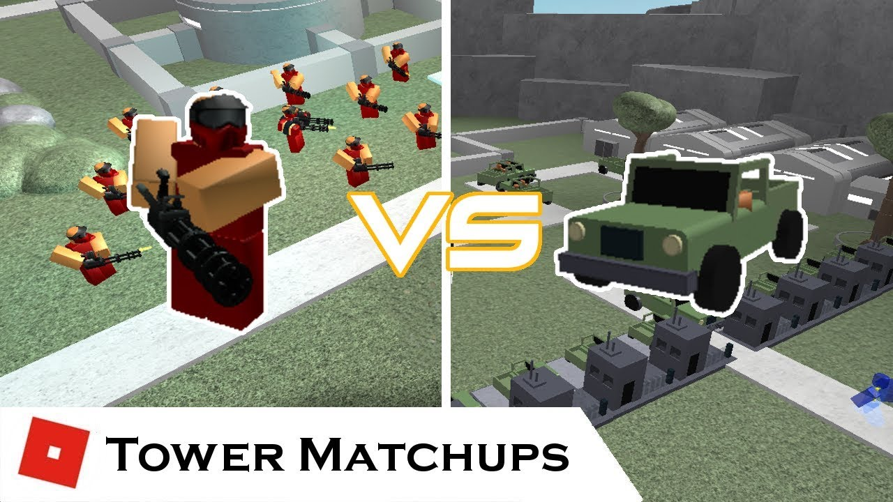 Patrol Vs Commando Tower Matchups Tower Battles Roblox Youtube